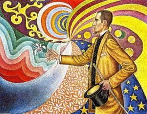 Paul Signac - Portrait of Felix Feneon, Opus 217