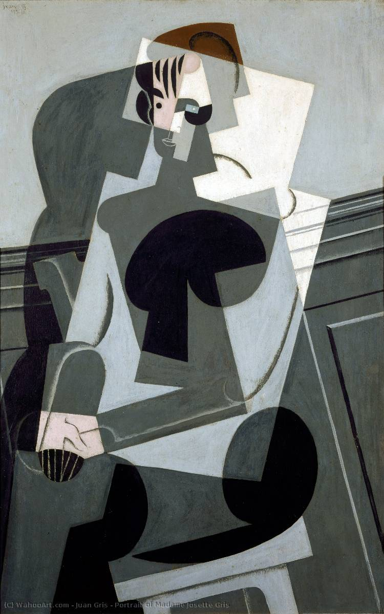 Order Reproductions | Portrait of Madame Josette Gris by Juan Gris | Most-Famous-Paintings.com