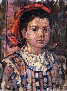 Maurice Brazil Prendergast - Portrait of a Young Girl