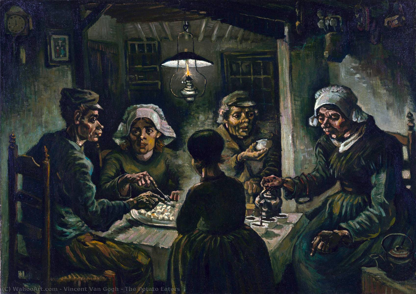 Order Art Reproductions | The Potato Eaters by Vincent Van Gogh | Most-Famous-Paintings.com