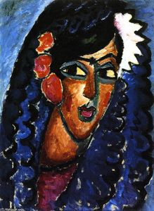 Alexej Georgewitsch Von Jawlensky - Princess with White Flower