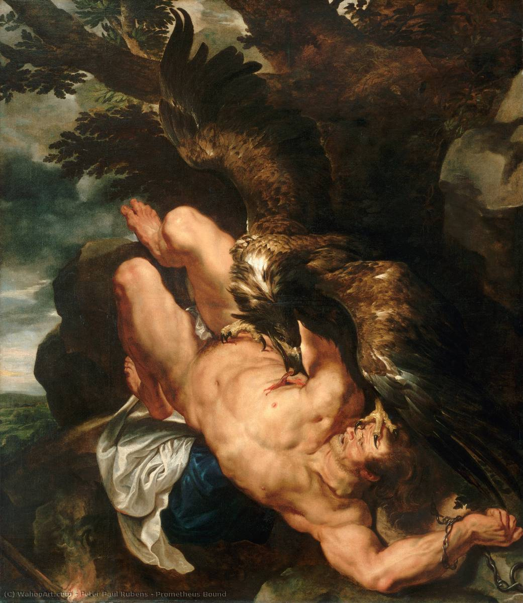 famous painting Prometheus Bound of Peter Paul Rubens