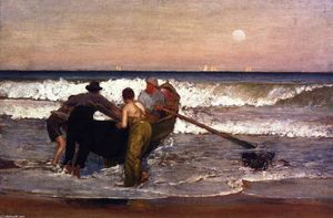 Louis Comfort Tiffany - Pushing Off the Boat at Sea Bright, New Jersey
