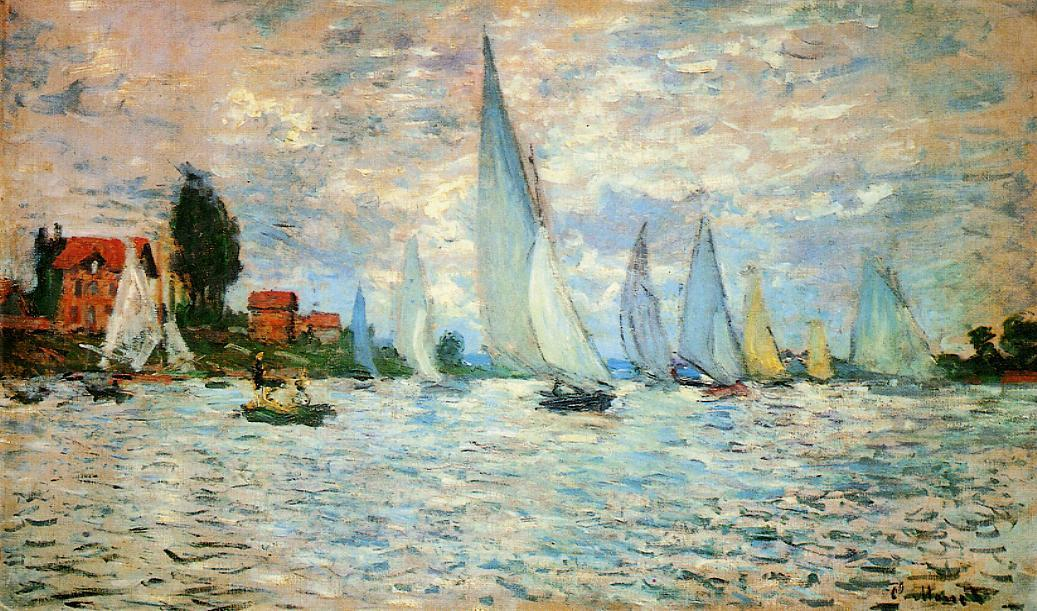 famous painting Regatta at Argenteuil of Claude Monet