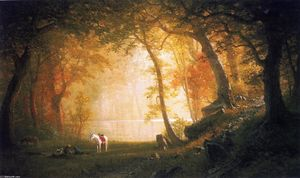 Albert Bierstadt - A Rest on the Ride