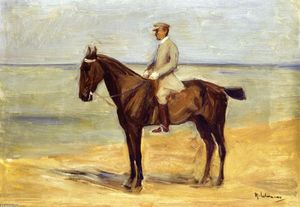 Max Liebermann - Rider on the Beach Facing Left