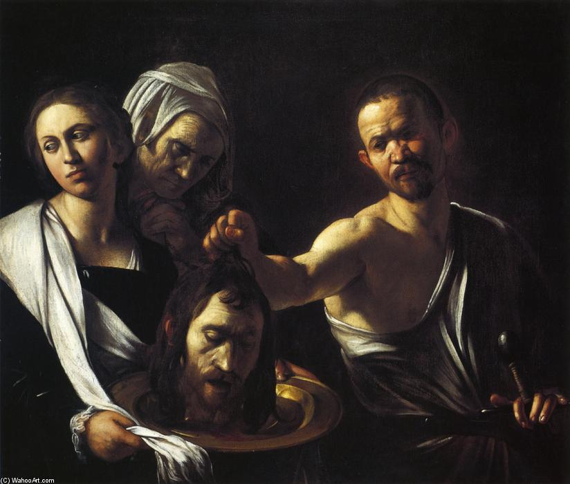famous painting Salome with the Head of St. John the Baptist of Caravaggio (Michelangelo Merisi)
