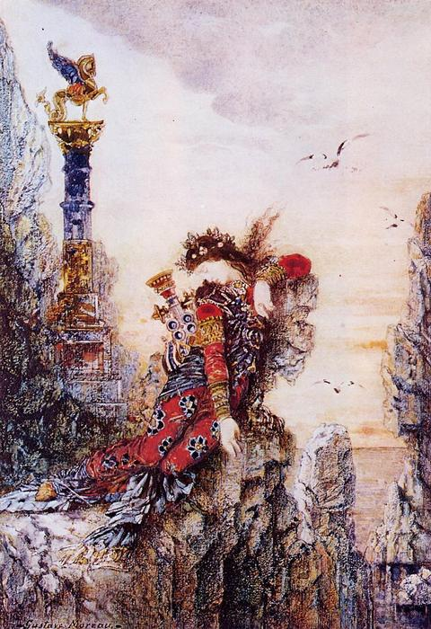 famous painting Sappho on the Cliff of Gustave Moreau