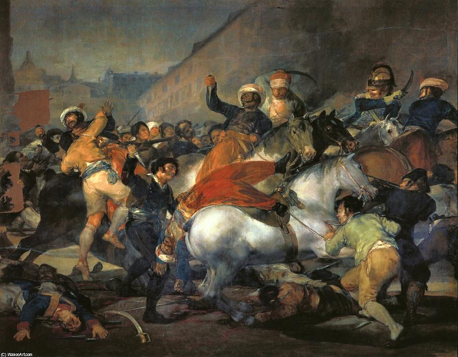 Order Paintings Reproductions | The Second of May 1808 by Francisco De Goya | Most-Famous-Paintings.com