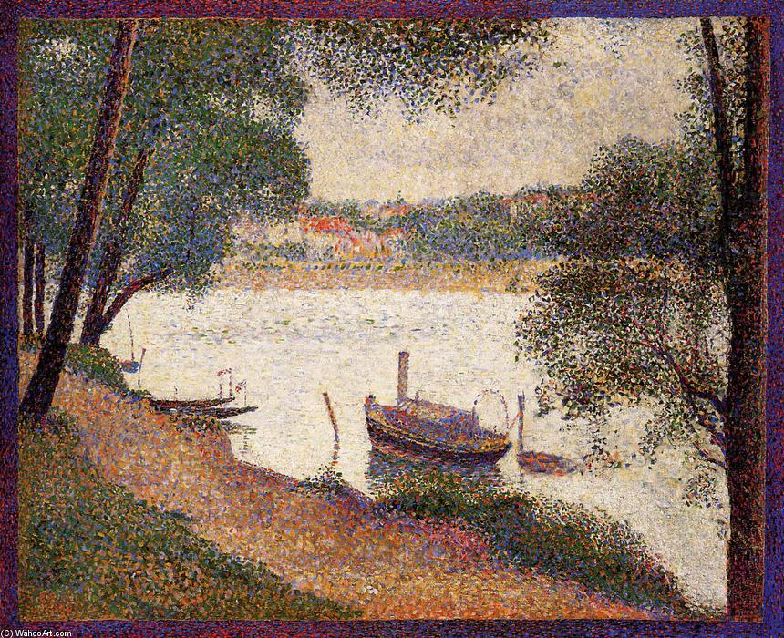 Order Reproductions | The Seine at La Grande Jatte in the Spring by Georges Pierre Seurat | Most-Famous-Paintings.com
