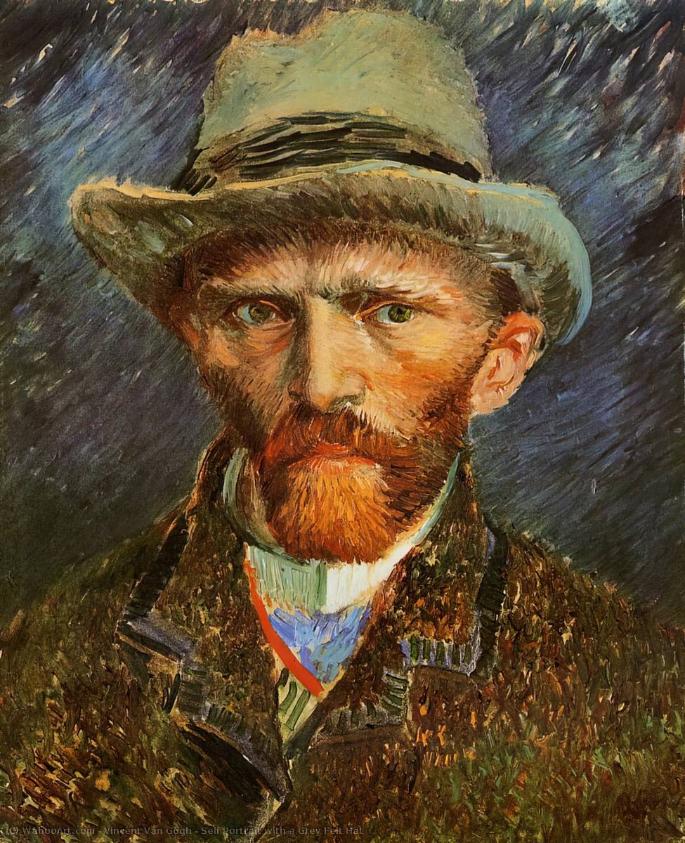 Order Reproductions | Self Portrait with a Grey Felt Hat by Vincent Van Gogh | Most-Famous-Paintings.com