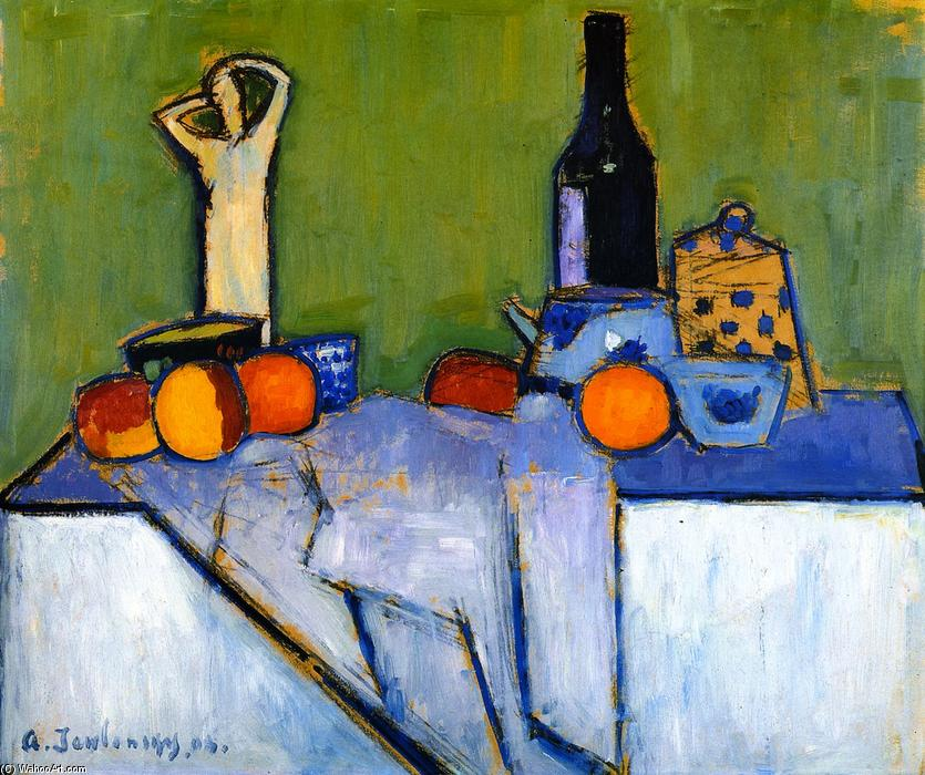 famous painting Sill LIfe with Figure of Alexej Georgewitsch Von Jawlensky