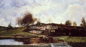 Charles François Daubigny - Sluice in the Optevoz Valley