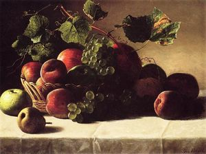 George Hetzel - Still Life with Grapes and Peaches