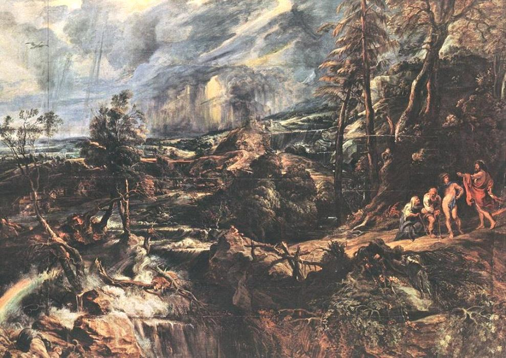 famous painting Stormy Landscape of Peter Paul Rubens