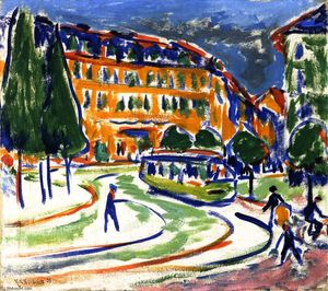 Ernst Ludwig Kirchner - Streetcar (in Dresden)
