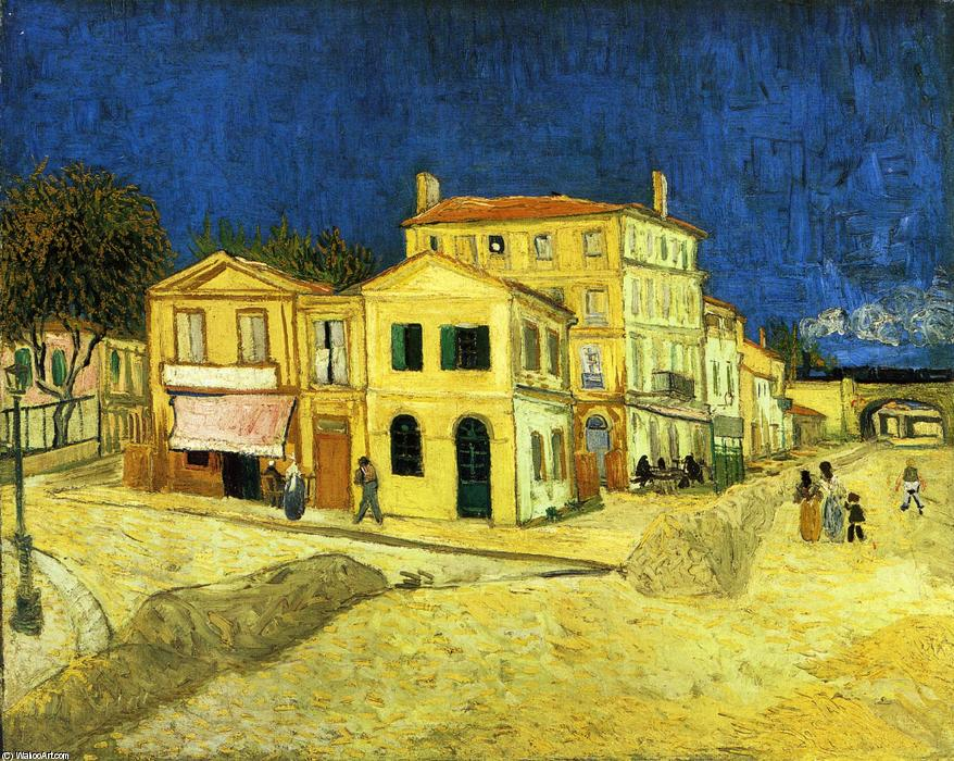 famous painting The Street, the Yellow House of Vincent Van Gogh