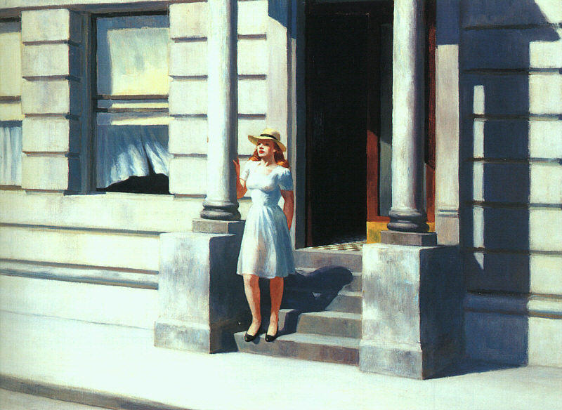 | Summertime by Edward Hopper | Most-Famous-Paintings.com