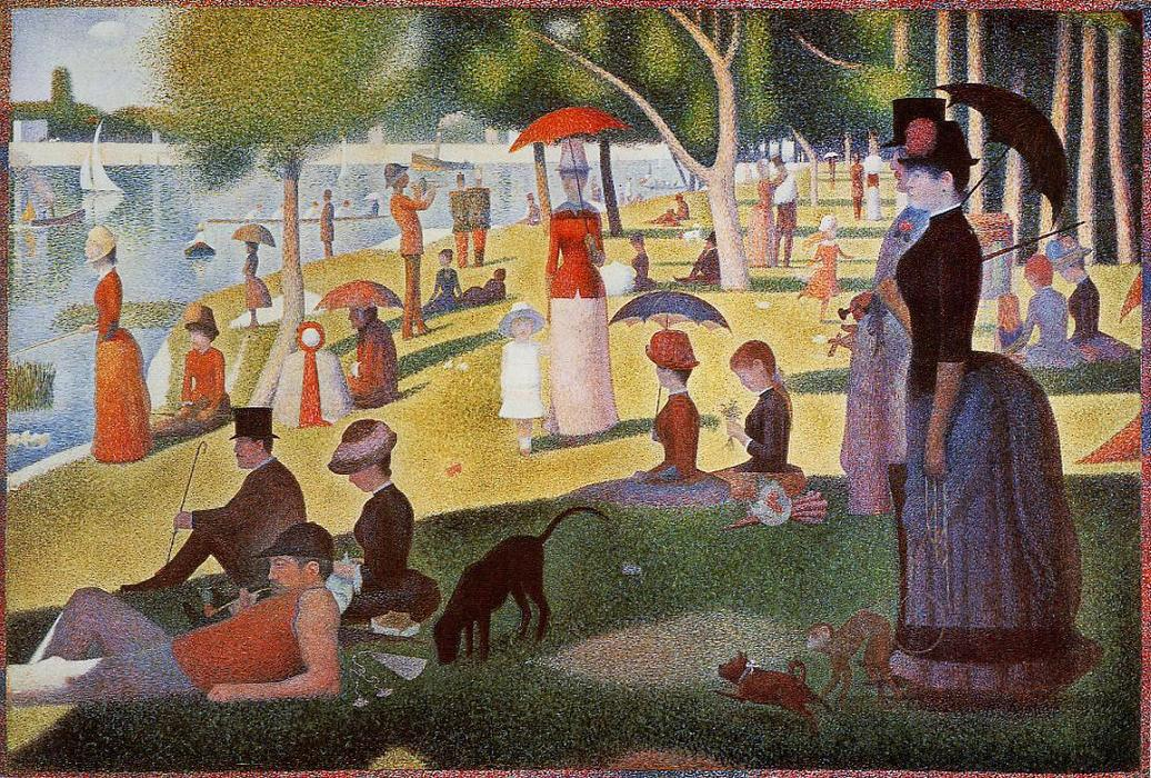 Order Museum Quality Copies | A Sunday Afternoon on the Island of La Grande Jatte by Georges Pierre Seurat | Most-Famous-Paintings.com
