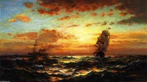 Edward Moran - Sunset Marine