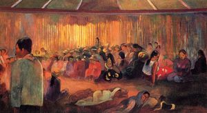 Paul Gauguin - Te Rare Hymenee (also known as The House of Hymns)