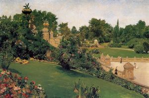 William Merritt Chase - Terrace at the Mall, Cantral Park