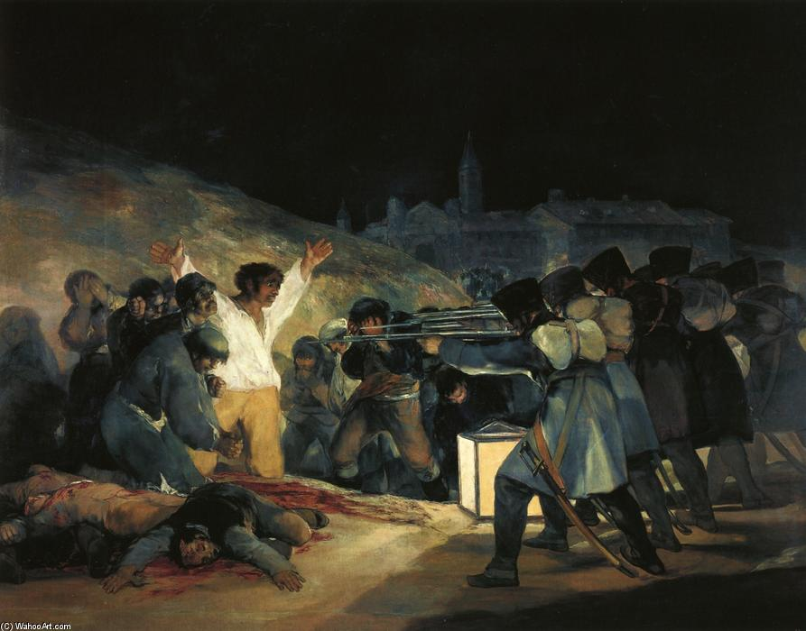 famous painting The Third of May 1808 of Francisco De Goya