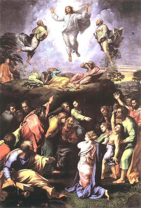 famous painting The Transfiguration of Raphael (Raffaello Sanzio Da Urbino)