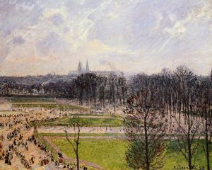 Camille Pissarro - The Tuileries Gardens: Winter Afternoon