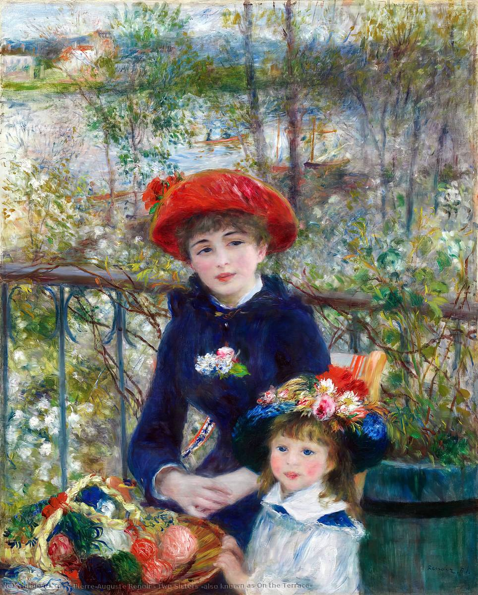 Order Reproductions | Two Sisters (also known as On the Terrace) by Pierre-Auguste Renoir | Most-Famous-Paintings.com