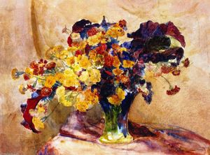 Louis Comfort Tiffany - Untitled (also known as Flowers in a Vase)