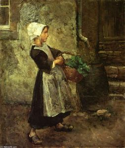 Julius Garibaldi Melchers - The Vegetable Girl