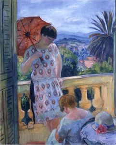 Henri Lebasque - View of Esterel from the Balcony