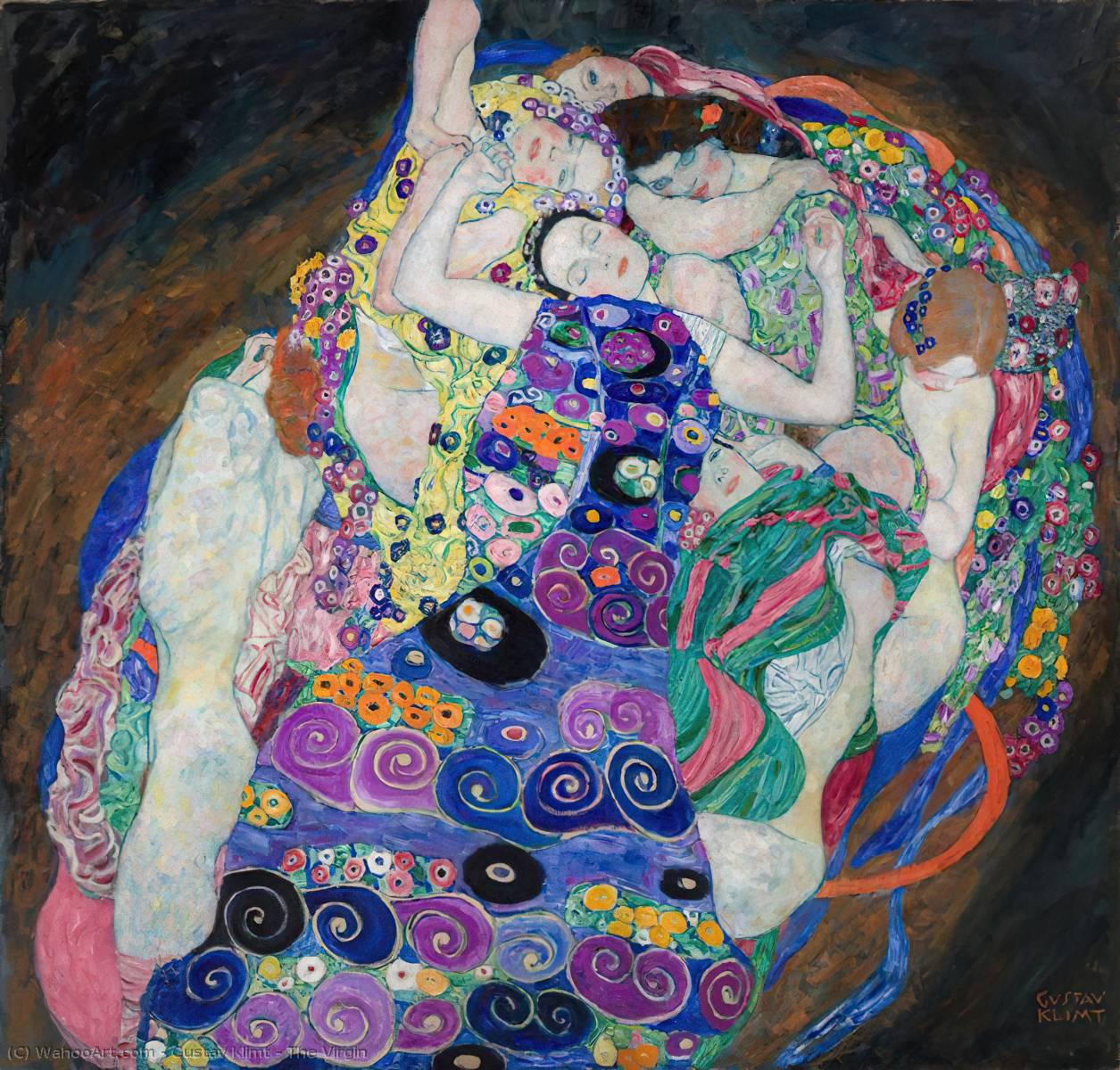 Order Art Reproductions | The Virgin by Gustav Klimt | Most-Famous-Paintings.com