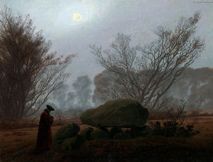 Caspar David Friedrich - A Walk at Dusk