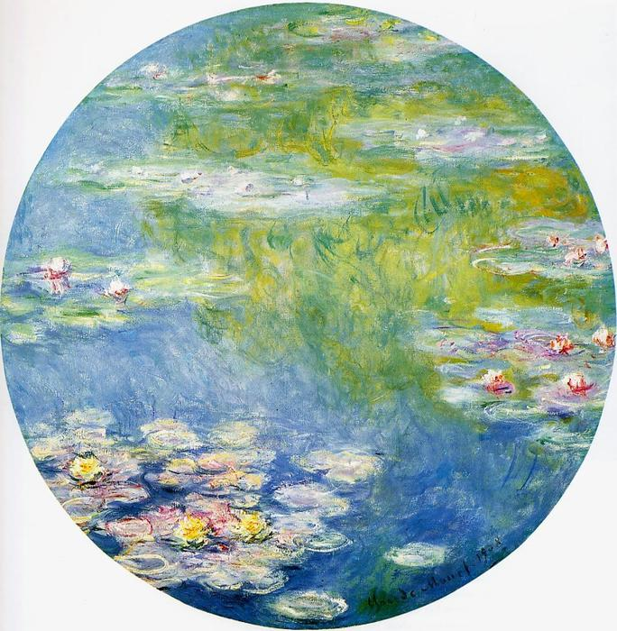 famous painting Water-Lilies of Claude Monet
