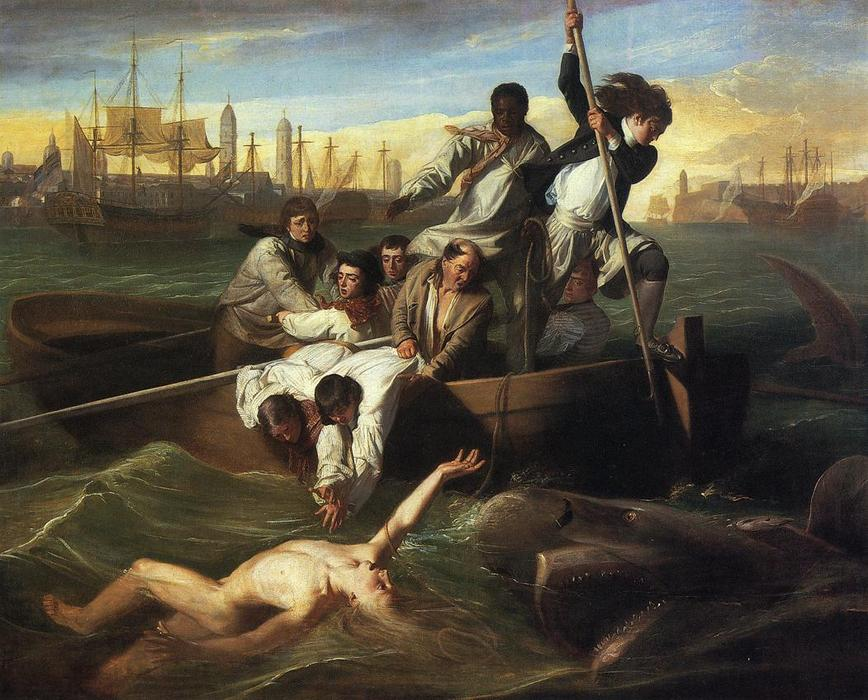famous painting Watson and the Shark of John Singleton Copley