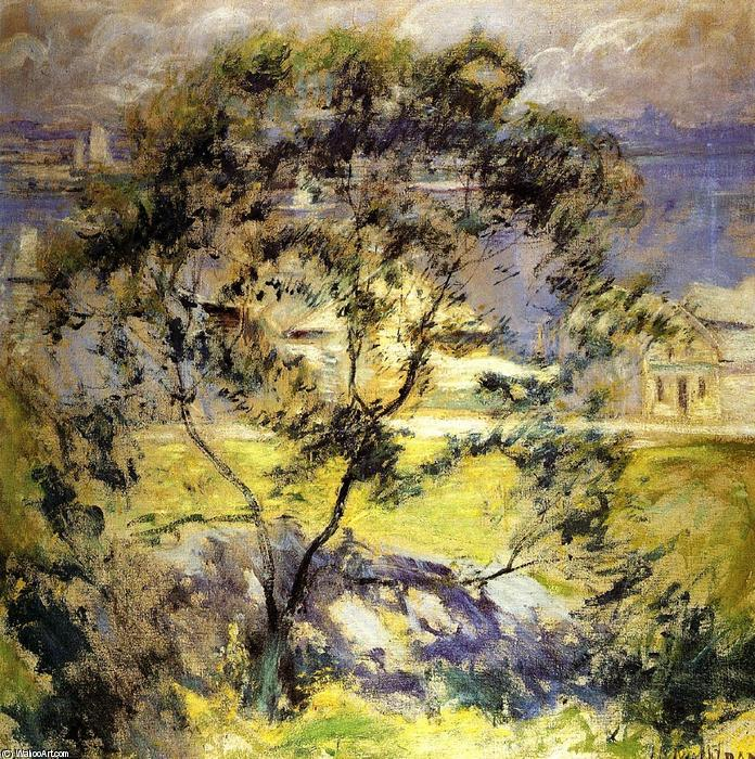 famous painting Wild Cherry Tree of John Henry Twachtman