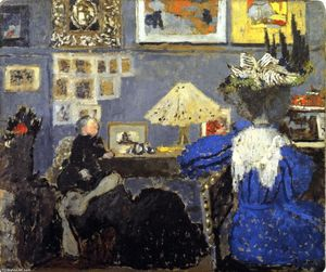 Jean Edouard Vuillard - Woman in Blue (also known as At the Ransons')