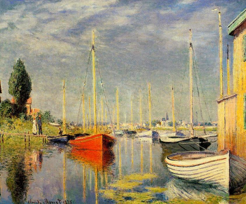 famous painting Yachts at Argenteuil of Claude Monet