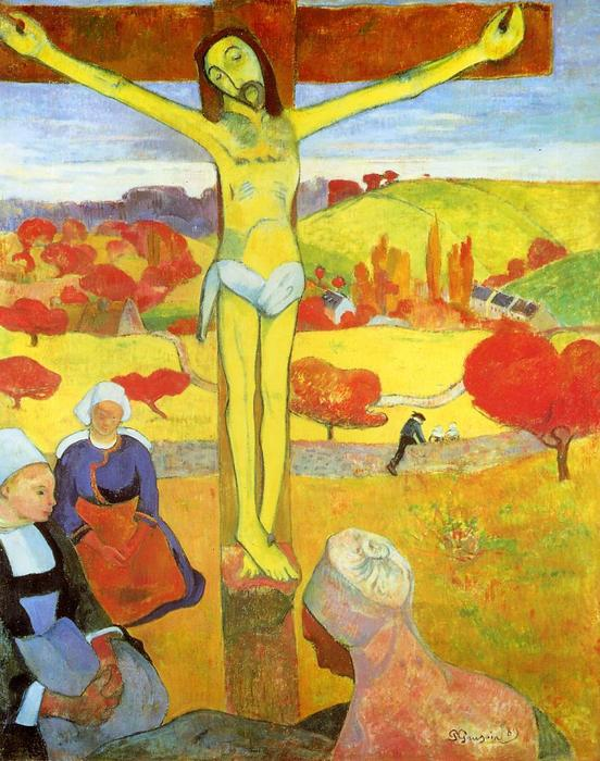 famous painting Yellow Christ of Paul Gauguin