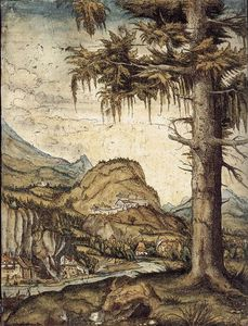 Albrecht Altdorfer - The Large Spruce