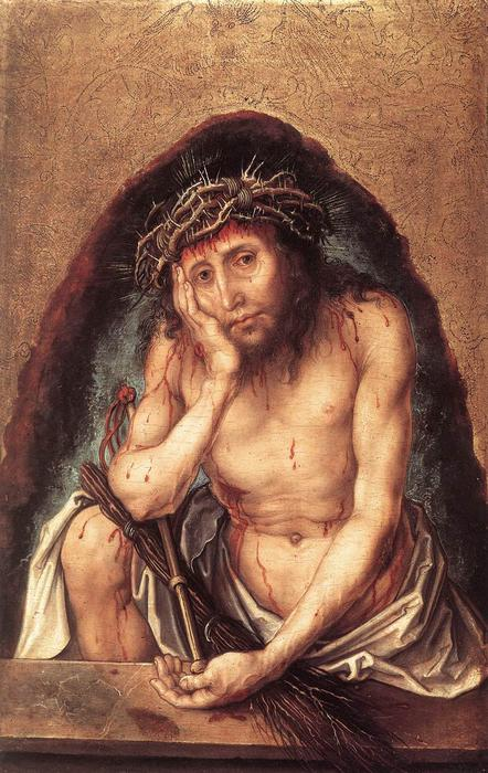 Order Oil Painting : Christ as the Man of Sorrows by Albrecht Durer | Most-Famous-Paintings.com