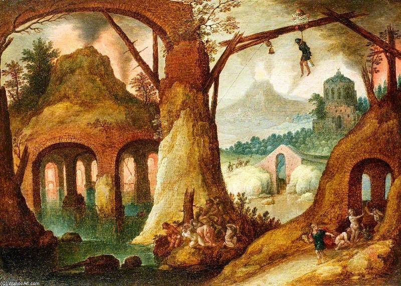 famous painting Orpheus Returning From The Underworld of Tobias Verhaecht