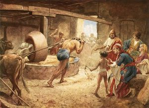 William Brassey Hole - Samson Grinding In Prison At Gaza