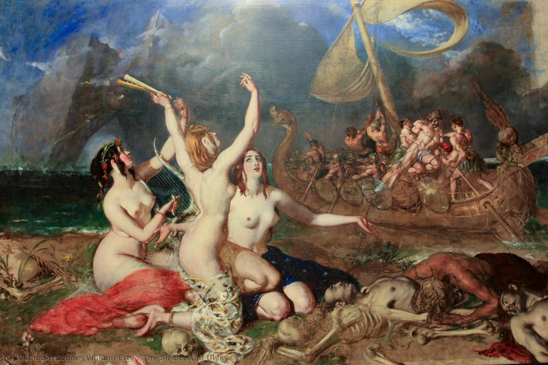 famous painting The Sirens And Ulysses of William Etty