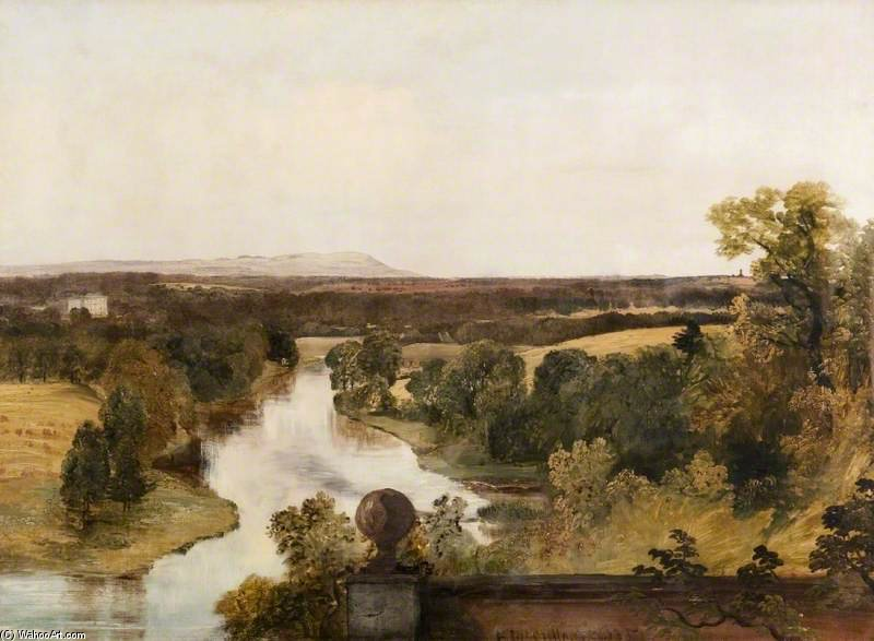 famous painting View From The Roman Camp At Dalzell Near Hamilton of Horatio Mcculloch