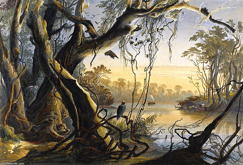 famous painting Mouth Of Fox River of Karl Bodmer