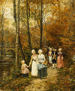 Marie Francois Firmin-Girard - The Afternoon Stroll