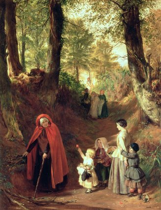 Order Reproductions | Youth And Age by John Callcott Horsley | Most-Famous-Paintings.com